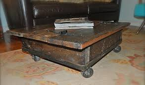Industrial Rustic Coffee Table Rustic Coffee Table With Wheels Montserrat Home Design