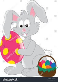 big easter bunny clip illustration easter bunny holding stock illustration