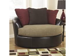 Swivel Accent Chair by Ashley Furniture Sanya Mocha Oversized Swivel Accent Chair