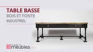 Table De Salon Industrielle by Table Basse Industrielle Bois Et Fonte Youtube
