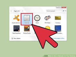 gadget de bureau windows 8 how to get a calendar on your desktop with pictures wikihow