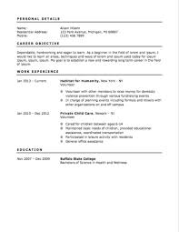 Job Objective In Resume by 12 Free High Student Resume Examples For Teens