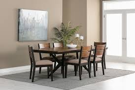 chairs for dining room spencer 7 piece rectangle dining set w wood chairs living spaces
