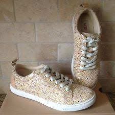 ugg womens tennis shoes ugg karine chunky glitter silver multi tennis shoes us size 9