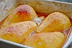 gourmet pears baked pear with cinnamon and v gourmet