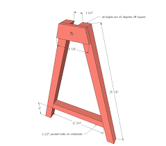 ana white adjustable height sawhorses diy projects