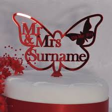 butterfly cake toppers personalised wedding mr mrs butterfly cake topper ruby