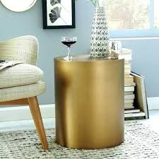 gold drum coffee table gold drum side table vetrochicago
