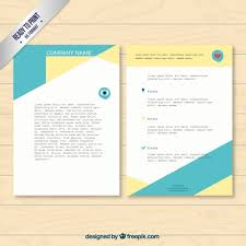 company template flyer vector free download