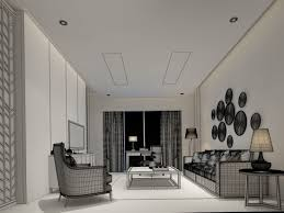 bathroom chinese living room design 3d cgtrader