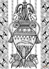the treasure of the hidden chamber under the pyramid coloring page