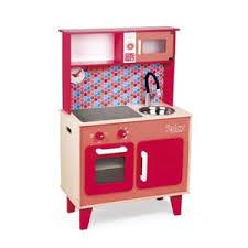 grande cuisine enfant janod maxi cuisine en bois enfant spicy pas cher achat vente