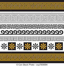 greece ornament vector set of greece ornaments you can eps