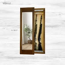 best place to buy gun cabinets storage mirror in wall gun safe concealment cabinet american walnut