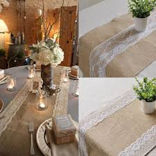 wedding runners table linens burlap and lace table runner in bulk grey table