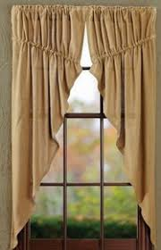 burlap curtains victorian heart
