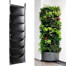 koram 7 pockets vertical garden living wall hanging planter flower