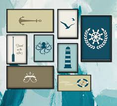 seafaring icon minimalist funny art canvas poster print navigation