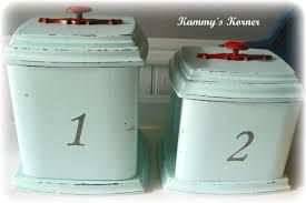 antique kitchen canisters kammy u0027s korner vintage revival shabby canister set