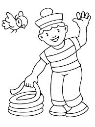 child waving for little children coloring pages free printable