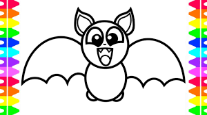 happy halloween coloring learning draw baby bat