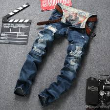 biker pants 2017 autumn u0026winter ripped jeans for men top quality broken hole