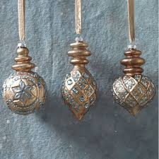 brown and blue southwest style ornaments