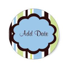 custom save the date baby shower stickers zazzle ca