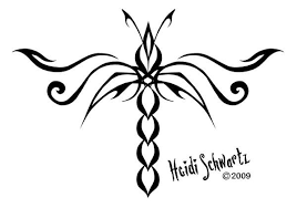tribal dragonfly design by heidi sehwartz