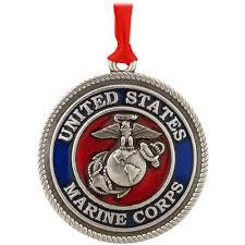marine corps pewter ornament usa theme christmas ornaments