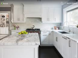 Modern White Kitchen Backsplash White Kitchen Houzz Kitchen Remodel Pinterest Houzz And