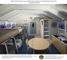 the military shelter comes with cabinets a pantry a sofa bunk