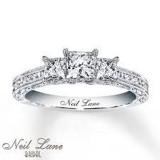 glamorous neil lane rings at kays jewelers kay neil lane engagement ring 1 1 5 ct tw diamonds 14k white gold