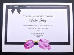 funeral invitation sle funeral notification cards customize 38 funeral invitation