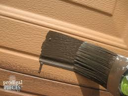 Wood Finishing Techniques Glazing by Faux Wood Garage Door Tutorial Prodigal Pieces