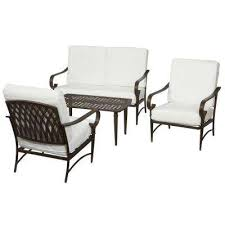 Outdoor Furniture Iron by Patio Conversation Sets Outdoor Lounge Furniture The Home Depot