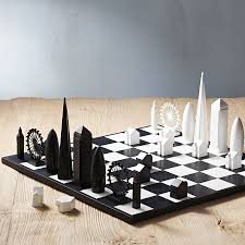 Gift For Architect London Skyline Architectural Chess Set By Skyline Games