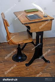 Quill Conference Table Antique School Desk Chair On Old Stock Photo 52957720 Shutterstock
