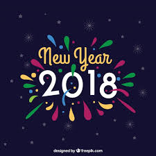 new year colorful new year background vector free