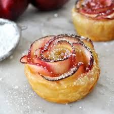 apple rose tarts in puff pastry recipe tastespotting