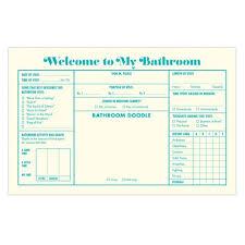 bathroom guest book urban attitude