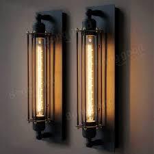 Industrial Rustic Lighting New Industrial Long Black Wall Plate Retro Wall Light Rustic Wall