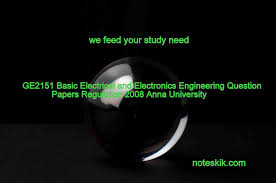 ge2151 basic electrical and electronics engineering question