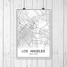 Los Angeles Map Poster by Online Buy Wholesale Usa World Map From China Usa World Map
