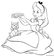 in wonderland coloring pages flowers for kids printable free