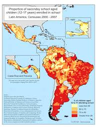 Latin America Countries Map by Ipums International