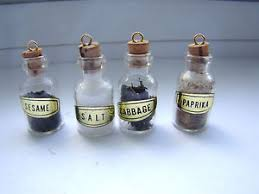 kitchen collectables vintage dollhouse kitchen collectables set of 4 glass spice jars w
