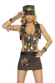 Halloween Costumes Army Green Camo Vest Army Brat Shorts Costume Upscalestripper