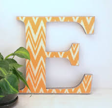 letter e chevron wall letters annie blue home decor