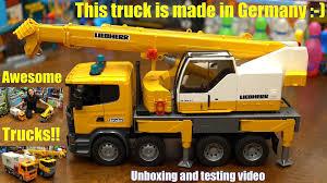 toy channel toy cars u0026 trucks bruder construction crane truck
